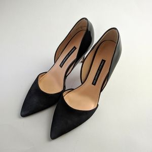 French Connection Elvia black d'orsay pumps